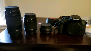 Canon EOS700D, lenses, travel bag and accessories