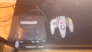N64 Console with wires and 1 controller (working)