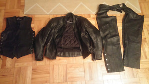 Altimate Leather Motorcycle Jacket & Vest & Chaps