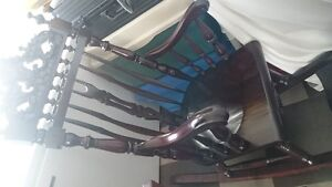 Vintage baroque style maghony rocking chair