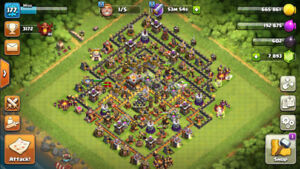 Clash of Clans TH11 with Max Queen and Warden