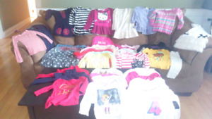 Three boxes of girls clothes size 4