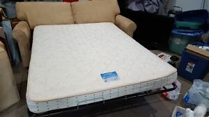 micro suede couch / pull out bed