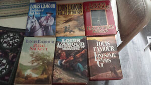 Louis L'Amour 6 Hardcover Westerns