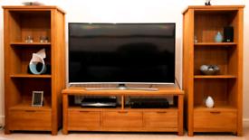 Solid Oak TV Unit & Display Units
