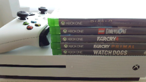 Xbox one S with disc games + downloaded games