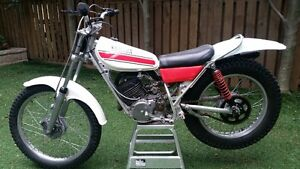 A Yamah TY 175 Trials bike