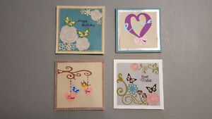 Original designed handmade card for sale set of 4 for $10