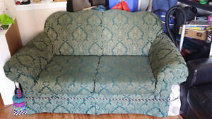 Green loveseat - PICK-UP ONLY
