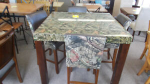 Large selection of new table and chair sets.