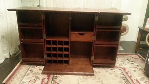 Crosley bar cabinet