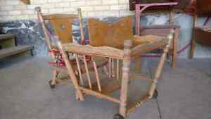 Beautiful antique child seat converts to potty/cart Kitchener / Waterloo Kitchener Area image 7
