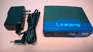 Linksys Network 10/100 5-port Switch Model EZXS55W