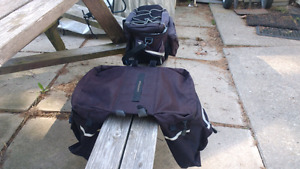 Bicycle rack and bags