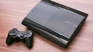 Ps3 Superslim with 2 controllers, 2 games