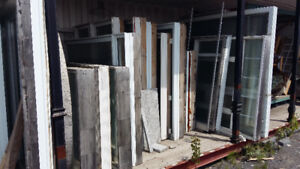 SATURDAY MAY 26 BLOWOUT SALE -- used DOORS AND WINDOWS!!