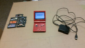 Nintendo gameboy sp + 10 games wants space marines