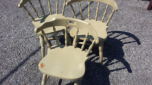 Three Painted Wood Dining Chairs ($30 for all)
