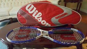 Wilson Tour Tennis Bag with 2 Wilson Tennis Raquets