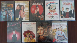Set of 9 DVD's-never opened