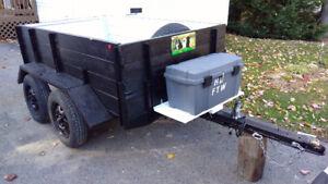 Trailer remorque tandem 4 roues
