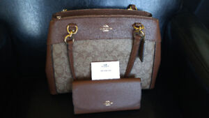 Brand new Coach Purse and Wallet with Tags still on