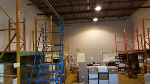 Warehouse Racking and 10 Step Ladder