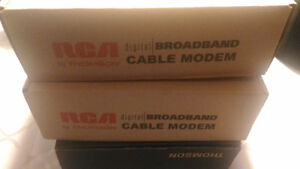 3 Cable Modems Grade A++, plus one Motorola for Free bundled