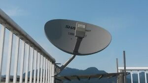 New SHAW DIRECT SATELLITE DISH with Quad XKU 3LNB-Sales-Installs