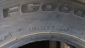 Winter tire (4) Pnues d'hiver  215/70R16  - BF Goodrich West Island Greater Montréal image 2