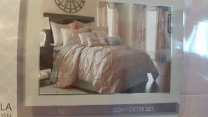 Queen-sized  24 pc embellished comforter set by PCT.