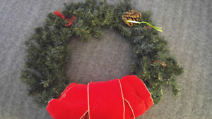 Large Xmas wreath like new sold as you see NEED GONE ASAP
