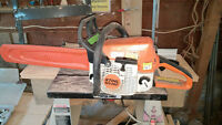 stihl chainsaw like new