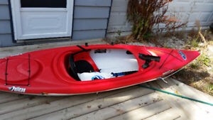Pelican Summit 100x, with paddle and rod holder