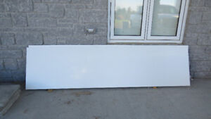"2-- 97"" x 24"" WHITE SHELVING-- BRICK BOARD-- NEW !!!"