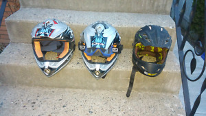 3 Dot3 Helmets. All For $75.00