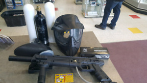 Paintball Gun with Acc