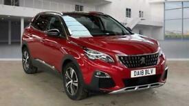 image for 2018 Peugeot 3008 1.2 PureTech Allure (s/s) 5dr SUV Petrol Manual