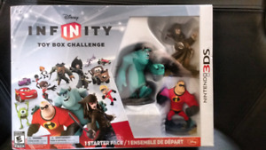 Nintendo 3DS Disney infinity toy box challenge starter pack NEW