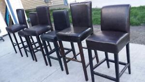 7 leather bar stools