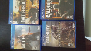 Ps4 games Call of duty and Battlefield