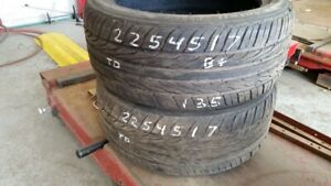 Pair of 2 Aoteli P607 225/45R17 tires (75% tread life)