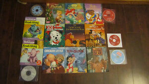 DISNEY CHRISTMAS AND OTHER READ ALONG BOOKS ASSORTIED