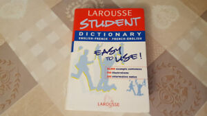LAROUSSE STUDENT Dictionary English French-French English