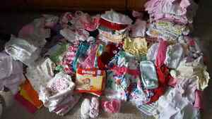 Baby girl clothes 0-3mos.