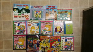 Simpsons comics/books. King of the hill south park