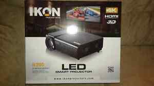 """Brand new 4k 3d led projector with 72"""" screen"""