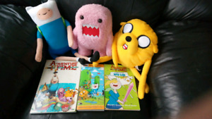 Adventure Time Stuffed Figures and 3 Adventure Time Books