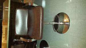 Leather barstool chairs