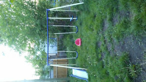 Swing set and extra baby swing
